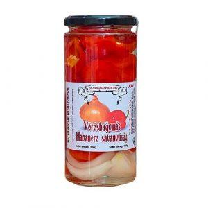 Vöröshagymás Habanero savanyúság- Chili Hungária