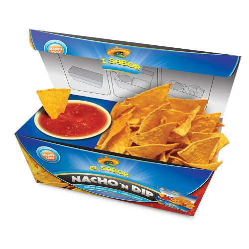 Nacho 'N Dip sós nacho chips és salsa szósz-El Sabor